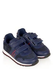 BOSS Boys Navy Trainers