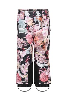Girls Pink Bouquet Ski Trousers