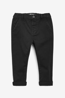 Black Stretch Chinos (3mths-7yrs)