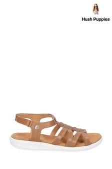 Hush Puppies Tan Callie Slingback Sandals