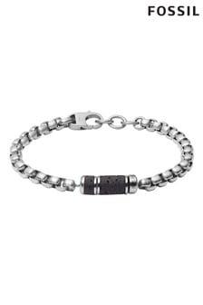 Fossil Silver Tone/Black Lava Bracelet