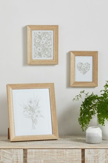 Set of 2 Wood Effect Frames