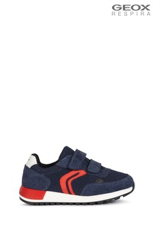 Geox Junior Boys Alben Navy/Red Shoes