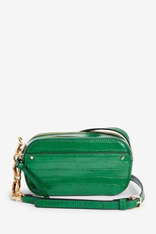 Green Structured Across-Body Bag