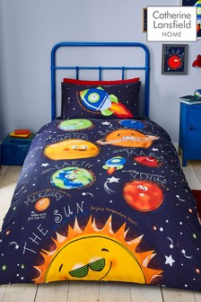 Happy Space Easy Care Duvet Cover and Pillowcase Set by Catherine Lansfield