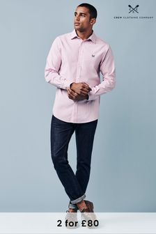 Crew Clothing Company Pink Micro Stripe Shirt