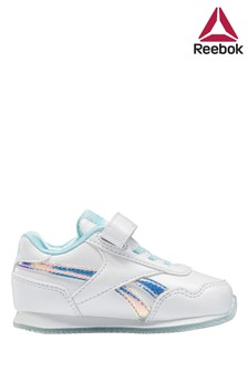 Reebok White/Silver Trainers