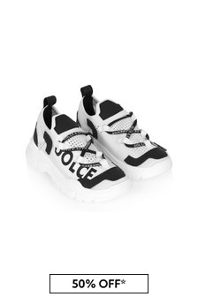 Dolce & Gabbana Kids Dolce & Gabbana Boys White Leather Trainers