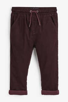 Plum Pull-On Cord Trousers (3mths-7yrs)