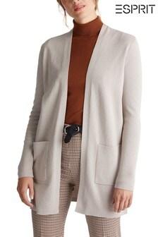 Esprit Womens Nude Long Sleeved Cardigan