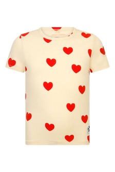 Girls Ivory Hearts T-Shirt