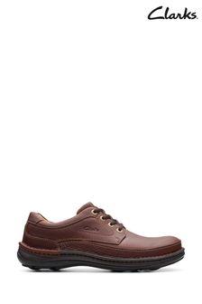 Clarks Mahogany Leather Nature Three Shoes