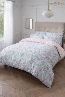Sam Faiers Pink Hailie Deco Cotton Duvet Cover and Pillowcase Set
