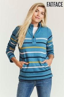 FatFace Blue Airlie Breton Multi Stripe Sweater