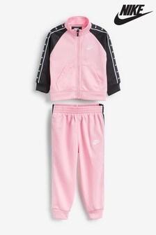 Nike Little Kids Black/Pink Tracksuit