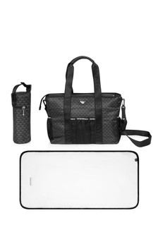 Baby Black Logo Changing Bag