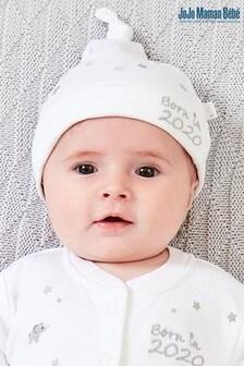 JoJo Maman Bébé White 2020 Embroidered Hat