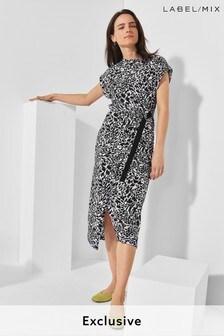 Next/Mix Printed Jersey Dress