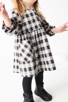 Monochrome Check Button Through Dress (3mths-7yrs)