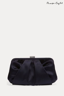 Phase Eight Blue Alice Satin Clutch Bag