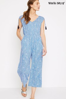 White Stuff Blue Marigold Jumpsuit