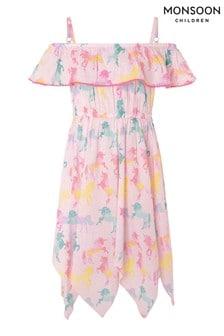 Monsoon Misty Unicorn Organic Cotton Dress