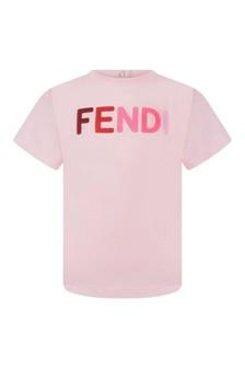 Baby Pink Cotton Logo T-Shirt