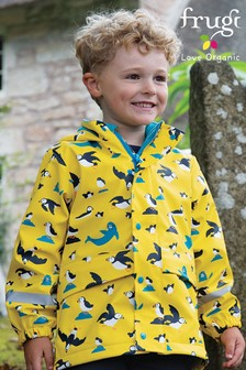 Frugi Yellow Recycled Waterproof Lined Coat