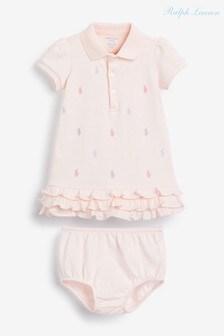 Ralph Lauren Pink Multi Pony Dress