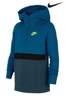 Nike Club Teal 1/2 Zip Hoody