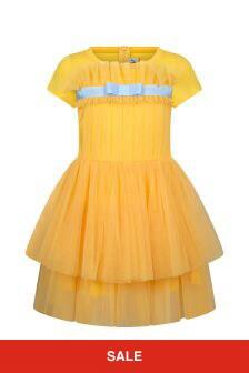 Simonetta Girls Yellow Dress