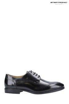Steptronic Black Fareham Lace-Up Shoes