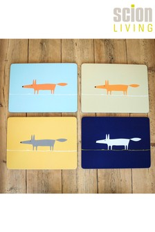 4 Piece Scion Mr Fox Placemats