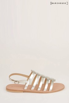 Warehouse Silver Gladiator Sandals