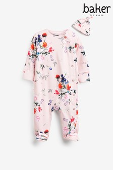 Baker by Ted Baker Floral Sleepsuit With Hat