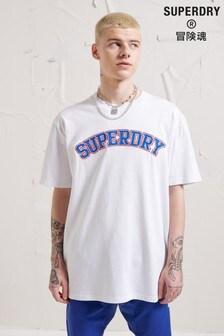 Superdry Unisex Energy Varsity Appliqué T-Shirt