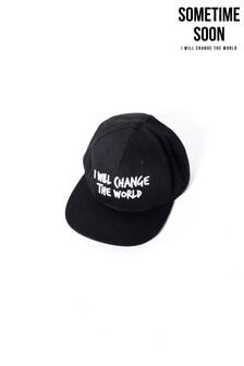 Sometime Soon Black Slogan Cap