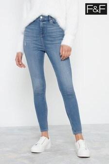 F&F Contour Mid Wash Jeans