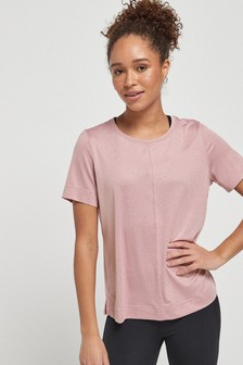 Pink Short Sleeve Sparkle Sports Top