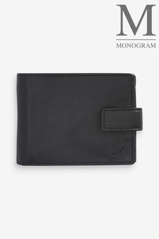 Black Monogram Signature Italian Leather Wallet