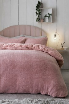 Sparkle Fleece Duvet Cover And Pillowcase Set