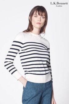 L.K. Bennett Cream Elodie Sweater