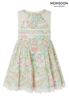 Monsoon Cream Baby Maya Paisley Dress