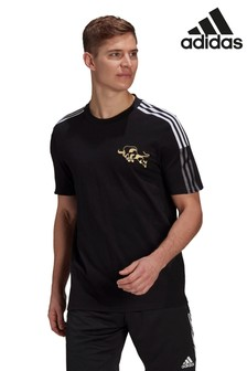 adidas Black Manchester United T-Shirt