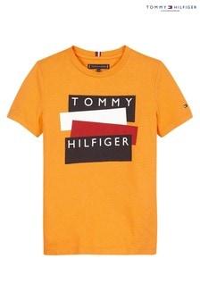 Tommy Hilfiger Orange Flag Sticker T-Shirt
