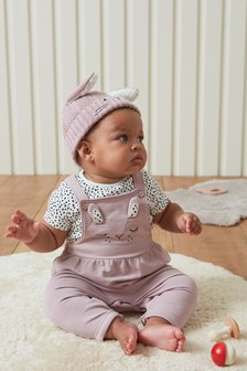 Lilac Character Dungarees And Bodysuit Set (0mths-2yrs)