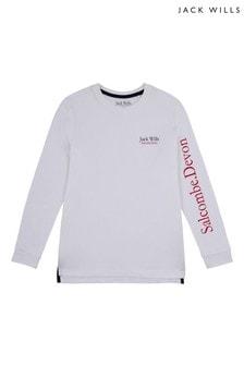 Jack Wills Boys White T-Shirt