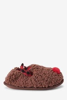 Chocolate Reindeer Slippers (Older)