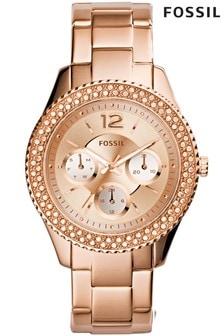 Fossil™ Stella Rose Gold Tone Watch