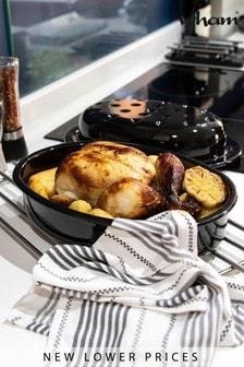 Lidded Enamel Oval Baking And Roasting Dish by Wham